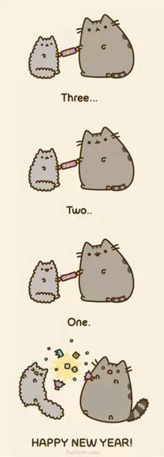 Happy new year from pusheen