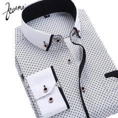 ZM69 New Men Shirt Long Sleeve Casual Fashion Brand Printing Slim Iron Camisa Masculina Floral Print Camisa Slim Fit Men Shirt