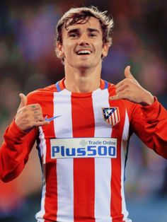 "sashosasho: """"Antoine Griezmann scores a brace for Atletico Madrid vs FC Rostov "" """
