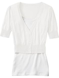 Love a shorter, 3/4 sleeve cardigan for over dresses and camis in the summer...