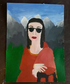 Mona Lisa. Acryl Malerei. Von Elisa