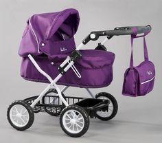Silver Cross Ranger Pram (Damson) Purple Kids Baby Doll Toy Pram New