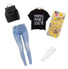 Back2school by annikenrabben on Polyvore featuring polyvore, fashion, style, G-Star, Vans, MANGO, Casetify and clothing