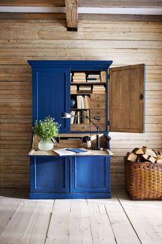 Ralph Lauren 2. Escritorio de madera en azul