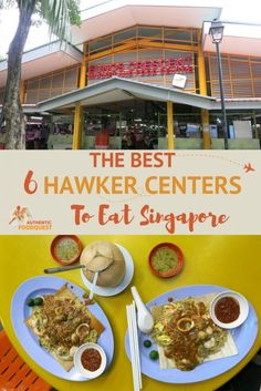 In Singapore, eat at the city& most iconic food places known as Hawker Centers. Here are the best hawker centers to taste Singapore food culture. Singapore Travel Tips, Singapore Itinerary, Visit Singapore, Singapore Food, Singapore Malaysia, Singapore Vacation, Singapore Sling, Taiwan, Food Places