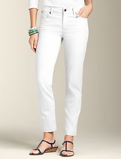 Talbots - White Ankle Jean