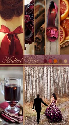 Mulled Wine Wedding Inspiration Board | Vintage Tea Roses http://vintagetearoses.com #wine #red #wedding #inspiration #shoes #cinnamon