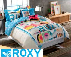 Shop for Roxy Vibe Full-size Duvet Cover Bed in a Bag. Get free delivery On EVERYTHING* Overstock - Your Online Fashion Bedding Store! Roxy Surf, Duvet Bedding, Bedding Sets, Beach Bedding, Teen Bedding, New Girl, Surf Room, Collage, Daughters Room