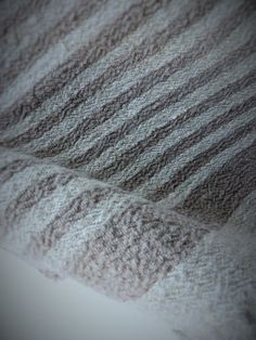 Stonewashed Rustic linen Bath hand towel in Natural & Washed Stone colour stripes.   I love these vintage feel towels! Not only do they look great,