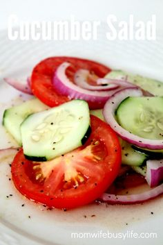 Cucumber Salad Recipe on Yummly. @yummly #recipe