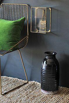 Abigail Ahern - Black glazed terracotta canyon vase for Rockett St Georges