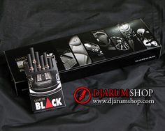 Djarum Black is a filtered kretek cigarette known for its spicy, bold taste and aroma. The finest natural-grown tobacco and cloves are combined with a specially designed concoction of additional enhancements to create its distinctive spicy punch.