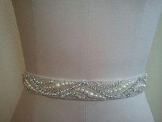 Hey, I found this really awesome Etsy listing at https://www.etsy.com/listing/196784238/handmade-wedding-beltsash-belt-crystal