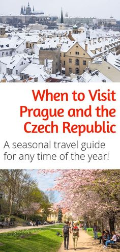 When to Visit Prague - Thinking of visiting Prague this summer? Want to see the Christmas markets in Prague this winter? Here are all the best things to do in Prague (and the rest of the Czech Republic) during any season.