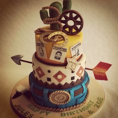 Cowboys and Indians cake. Wild West theme for a 30th #Birthday party! #BirthdayCakes