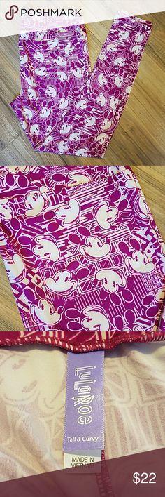 TC LEGGINGS LULAROE MICKEY NWT Yes...MICKEY!!! Gorgeous shade of purple! Brand new....oober soft!!! FITS 10-20 LuLaRoe Pants Leggings