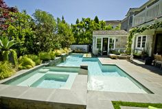 linear pool for a small yard