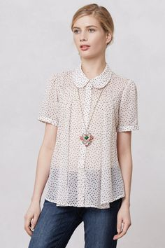 Dotted Clara Blouse - Anthropologie.com