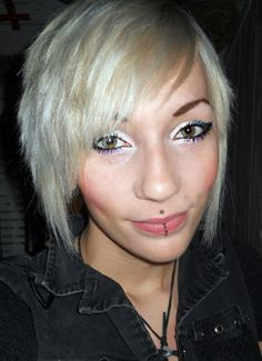Virgin Snow™...I'm in love with this colour and eye makeup, it's fantastic. So tempting to bleach my hair out and use Manic Panic Virgin Snow Toner!