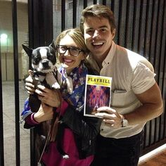 """""""My most favorite @davidchull was at the show tonight!! #tearsofjoy #pippin""""  @kristinereese"""