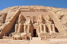 Temple of Ramses II in Abu Simbel,   Egypt.  Photo by Momentsintime.