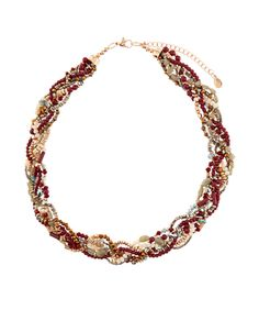 Nikki Plaited Collar Necklace