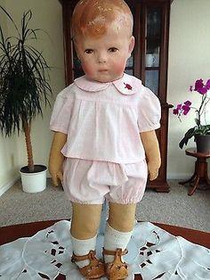 Niedlicher Zweiteiler, alt, passend für eine dicke Kruse Puppe I