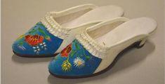 Szeged slippers | Szegedi értékek Air Festival, White Velvet, Green Dot, White Collar, Wedge Sandals, Slippers, Footwear, Times, Heels