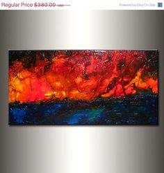 Original Modern Landscape Abstract Textured by newwaveartgallery, $330.00