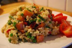 spring veg risotto