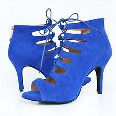 Sapatos de Dança(Preto / Azul / Roxo / Vermelho) -Feminino-Personalizável-Latina / Jazz / Salsa / Samba / Sapatos de Swing de 4950198 2017 por €29.10