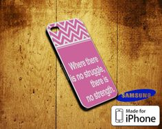 Struggle and Strengh Quote Case For iPhone 4/4S by GreatGift4U, $11.99