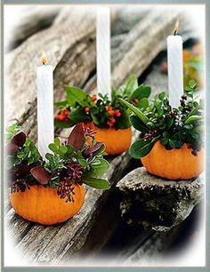 pumpkin candle stick