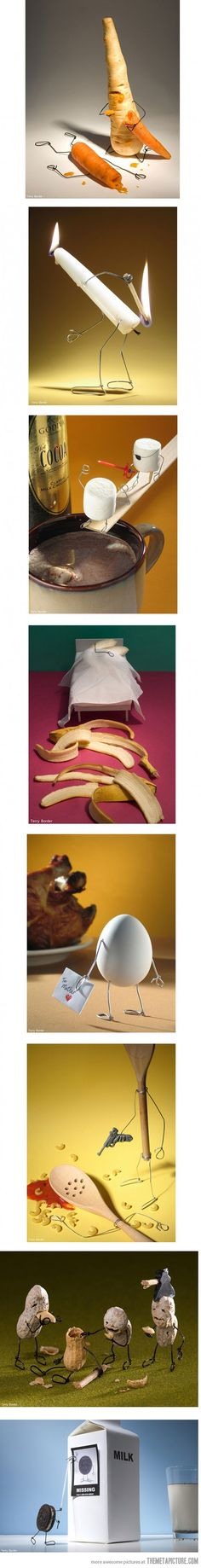 Objects come to life...love the bananas