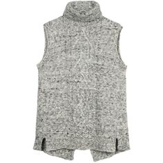 Fat Face Camber Sleeveless Jumper (415.425 IDR) ❤ liked on Polyvore featuring tops, sweaters, grey marl, grey sleeveless top, gray sleeveless top, gray sweater, sleeveless jumper and grey sweater