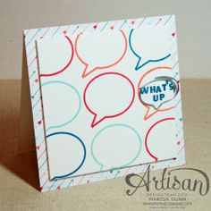 Created with Stampin'UP!'s new photopolymer stamp. Order yours April6-8th for FREE shipping. www.remarkablycreated.com