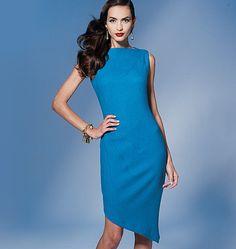 V1267 designer: Tom and Linda Platt MISSES' DRESS: Close-fitting, lined dress has decorative shoulder and side darts, lingerie straps and invisible back zipper.