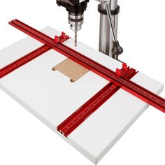 Drill Press Table, Garage Shop, Woodworking Tools, Laser Engraving, Woodpeckers, Wood Projects, Hardware, Kit, Track