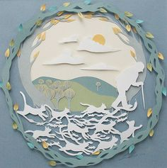 paper illustration by Sarah Dennis  http://sarah-dennis.co.uk/Paper-cutting #paper_cutting