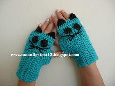 crochet cat gloves ^-^