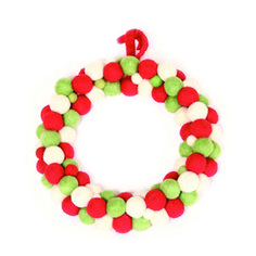 Rawspace-Wall Decorations- Green and Red Felt Wreath