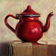 Red Teapot Painting - Red Teapot Fine Art Print at Fineart America Painting Still Life, Still Life Art, Red Teapot, Fruit Painting, Art Drawings For Kids, Hippie Art, Pastel Art, Painting Inspiration, Watercolor Paintings