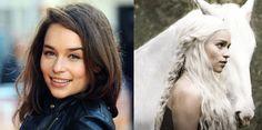 Emilia Clarke hair color transformation