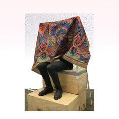 Edmund safe under African chitenge hiding from Glasgow weathering. Glasgow, Kimono Top, African, Blanket, Women, Fashion, Moda, Women's, La Mode