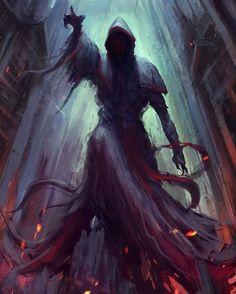 """""""Dark Priest"""" Art by Christian Quinot  #Painting #Drawing #Fantasy #Illustration #ConceptArt #DigitalArt #Art #Artist"""