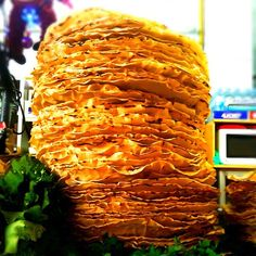 Stacked high for Sunday lunch: tortillas por tlayudas. Oaxaca, Mexico. Photo: uncornered market