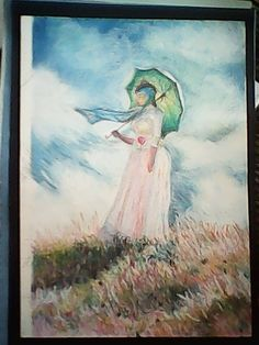 Visitando Monet, desenho a pastel seco em pp canson extragranulado por J. Carlos