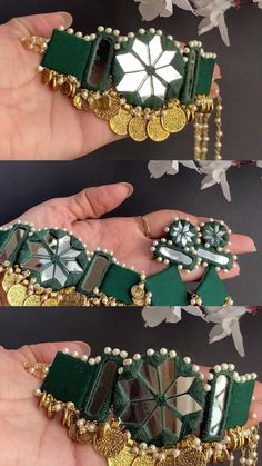 Diy Fabric Jewellery, Fabric Earrings, Fancy Jewellery, Bead Jewellery, Beaded Jewelry, Gota Patti Jewellery, Jewelry Mirror, Handmade Jewelry Designs, Jewelry Patterns