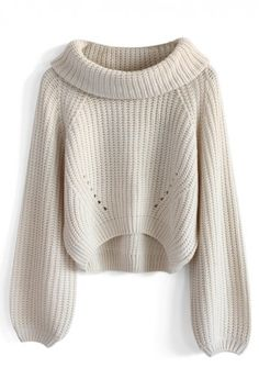 Whimming Turtleneck Sweater in Beige