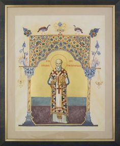 Expozitie 2018 - Lucrari Byzantine Icons, Orthodox Icons, Patron Saints, Romans, Ikon, Medieval, Vintage World Maps, Prayers, Ornaments